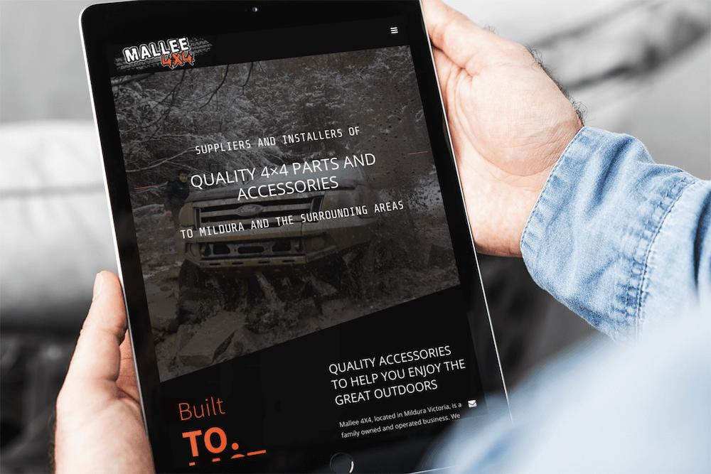 Mallee 4 x 4 Absolute web design ipad