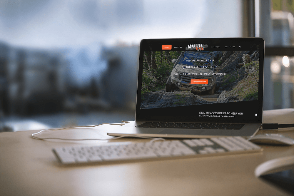 Mallee 4×4 Absolute Web Design laptop