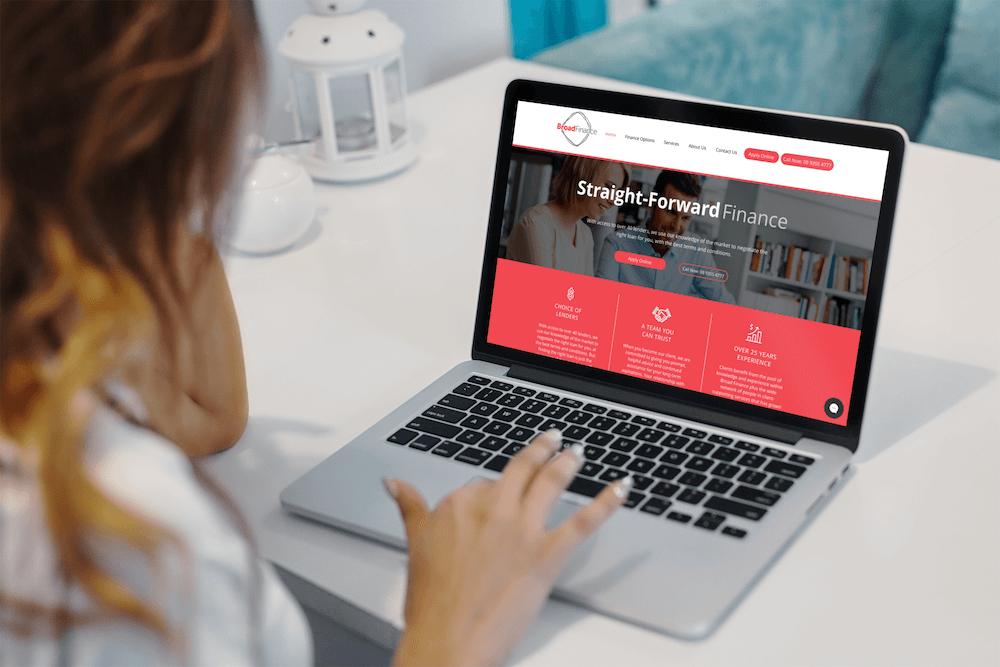 Broadfinance laptop Absolute Web Design
