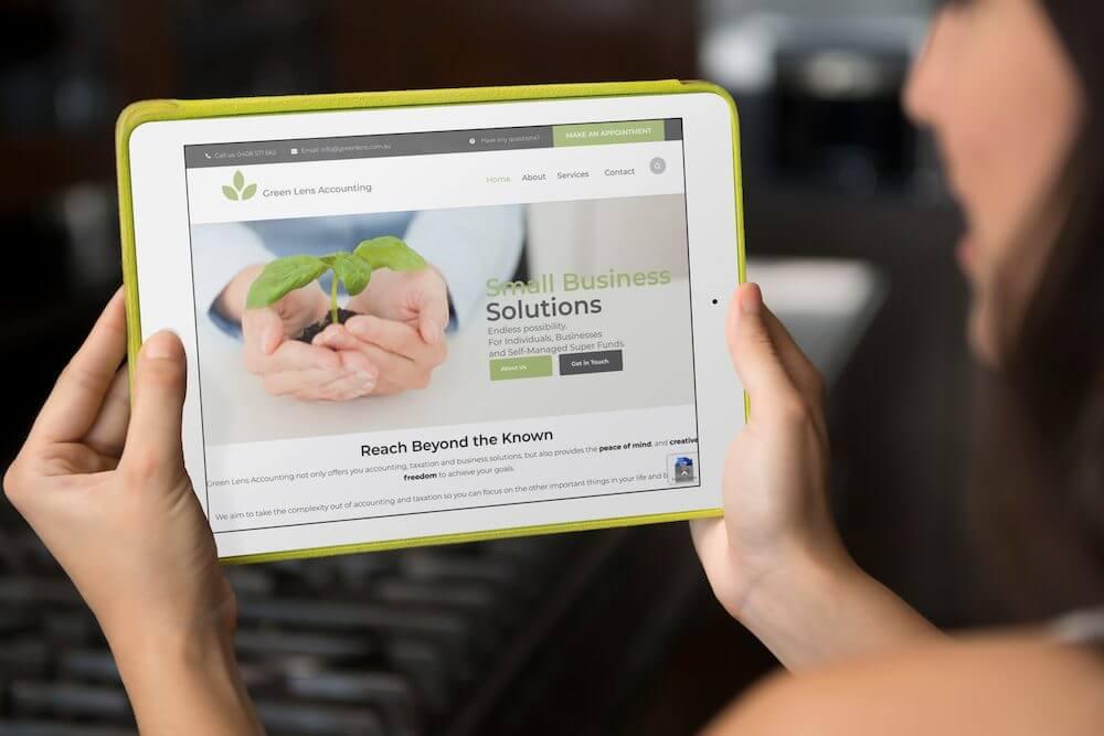 absolute web design accountant website