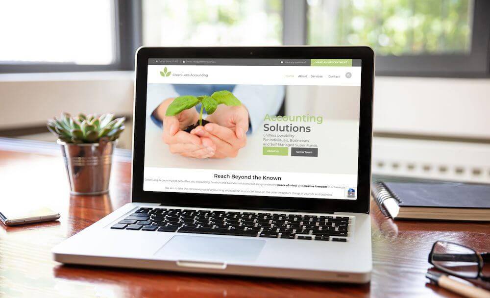 absolute web design green lens accounting